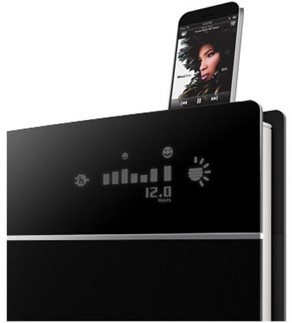 caixa de som ecológica