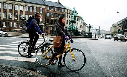 Copenhague foi a primeira cidade no mundo a promover o empréstimo público de bicicletas/Foto: Pablo Municio